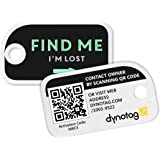 Dynotag Web/GPS enabled QR Smart Mini Fashion Tags - 3 Identical Tags for Gear (Find Me!)