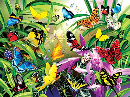 Tropical Butterflies 1000 Piece Jigsaw Puzzle by SunsOut