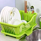 Hridaan Enterprise's Draining Tray Dish Drainer Drying Rack Tray Sink Holder Basket Knife Sponge Fork Holder Dish Rack for Kitchen Accessories (Multicolor)