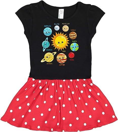 KONFA Teen Toddler Baby Girls Outer Space Pocket Dress,Little Princess Long Sleeve Casual Skirt Clothing Set