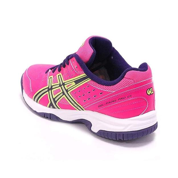 Asics Gel-Padel Pro 2Gs Rosa/Morado Amarillo Flash: Amazon.es: Zapatos y complementos