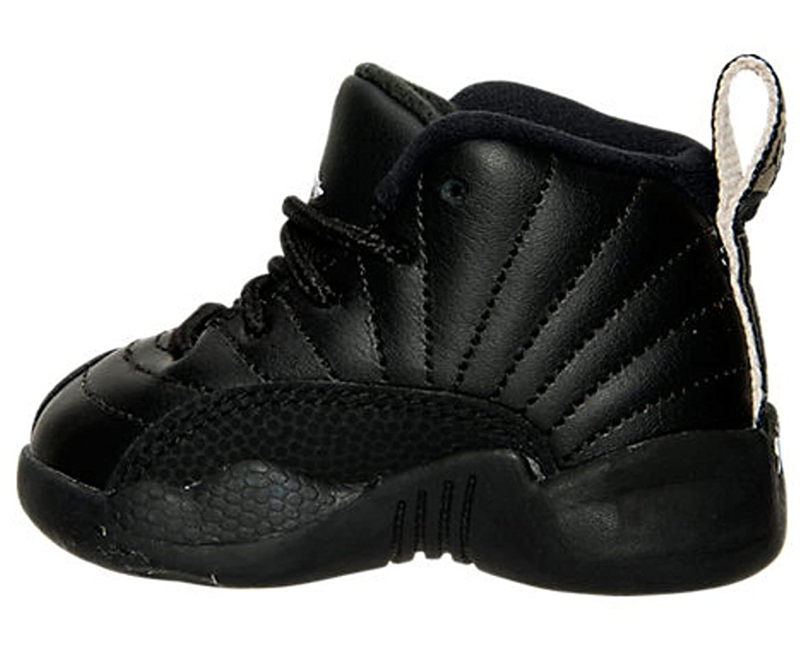 reputable site e03e0 50831 Nike AIR Jordan 12 Retro TD XII Toddler Black White The Master 850000 013