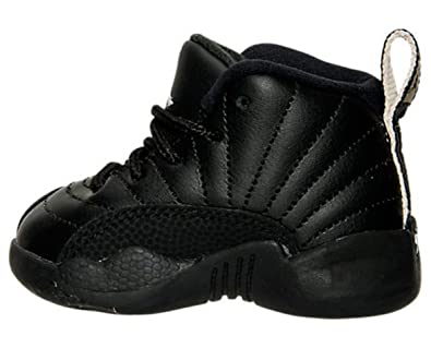 Nike Air Jordan Retro 12 THE MASTER Infant Toddlers Black Rattan White  Metallic Gold 850000-