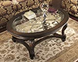 Norcastle Dark Brown Wood Oval Cocktail Table