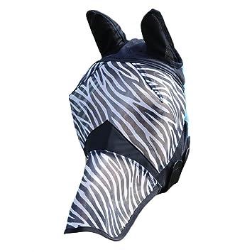 Máscara de la mosca con Zebra-tología cebra Talla:XFULL