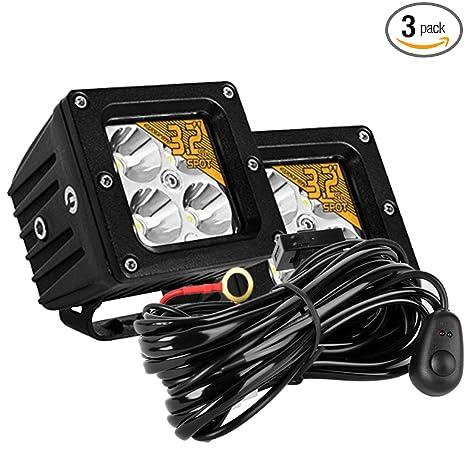 Awesome Amazon Com Led Light Bar With Wiring Harness Kit Eyourlife 2Pcs 20W Wiring Database Rimengelartorg