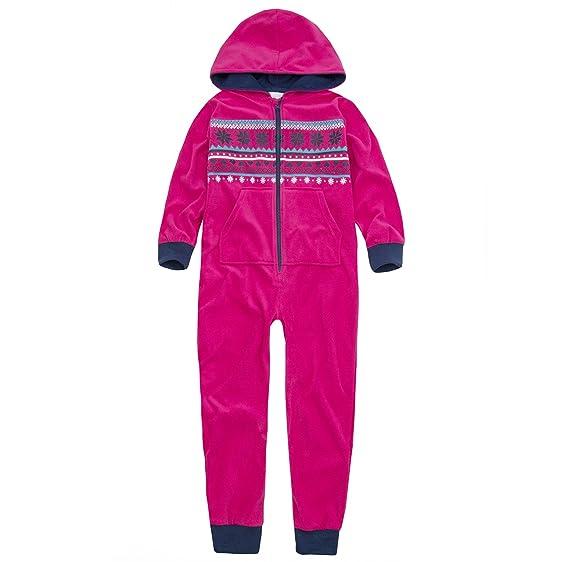 Amazon.com: Onezee Girls Fair Isle Pattern All In One Fleece ...