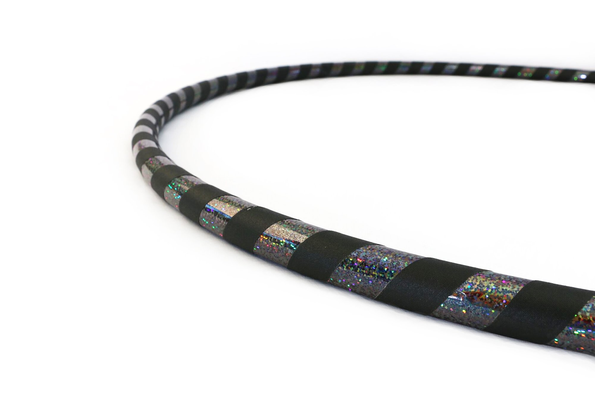 Weighted Hula Hoop for Exercise. Your Choice of Color. Made in The USA. (Black, Small - 36'' Diameter)
