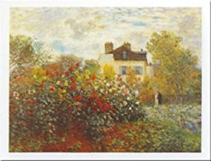Buyartforless The Artist's Garden by Claude Monet 20x28 Art Print Poster