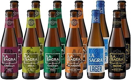 Pack Degustación LA SAGRA 6 estilos - 12 Botellas de 330 ml - Total: 3960 ml