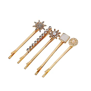 GOLD HAIR CLIPS Clip Set Hairpin Snap Accessories Bobby Pin Barrette Vintage New