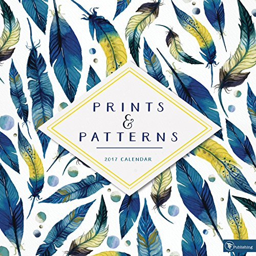 2017 Prints and Patterns Wall Calendar -
