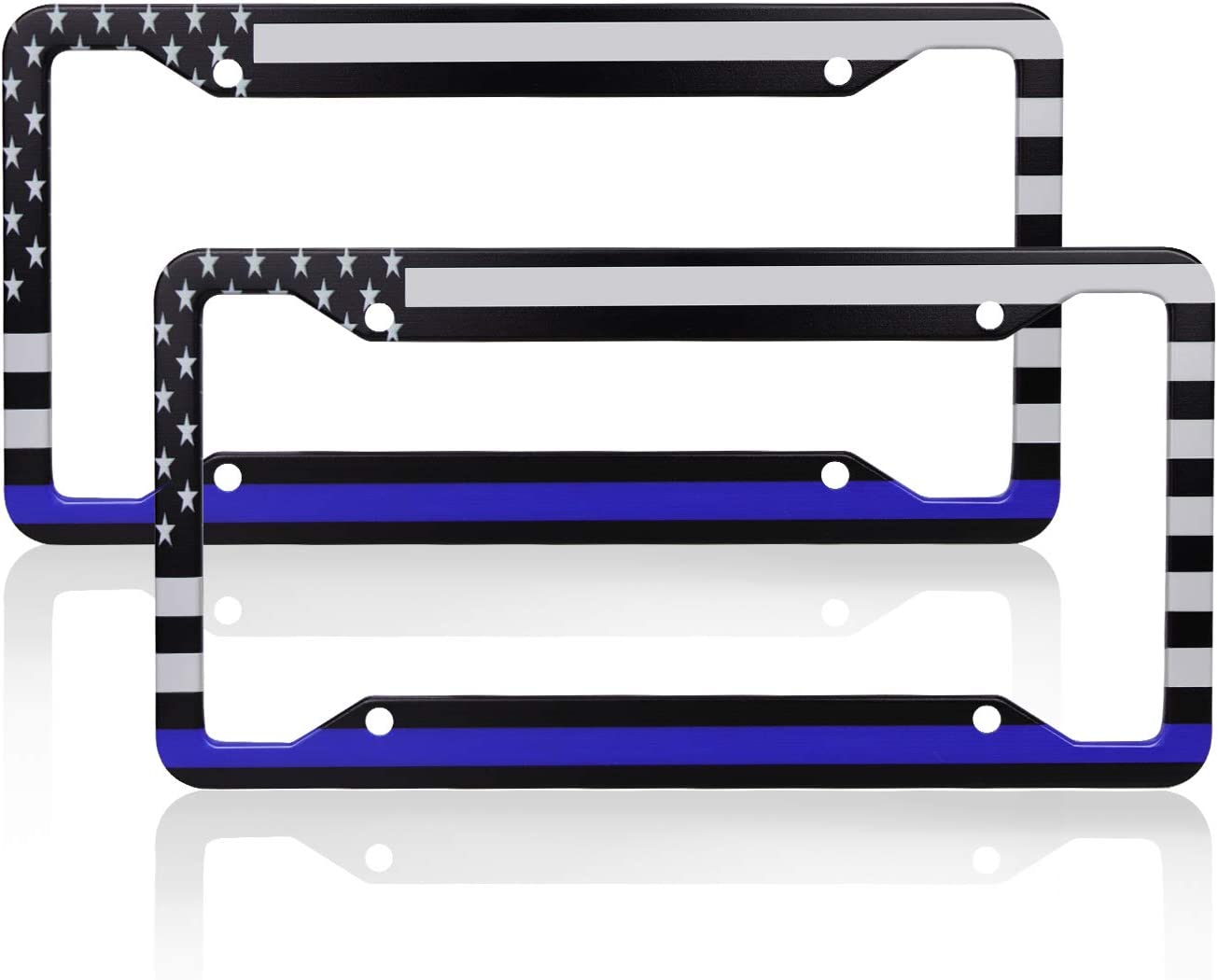 CUSTOM PERSONALIZED LICENSE PLATE BLUE LINE SUPPORT K9 POLICE AUTO TAG