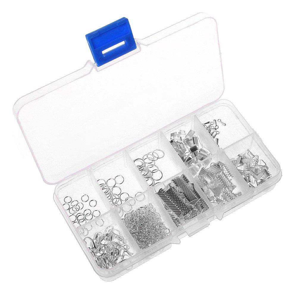 Sicai - Kit de cuentas para pulsera, cierres de langosta, anillos y extensores de cadena