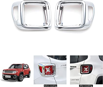 For 2018 Jeep Wrangler JL Rear Tail Light Lamp Frame Cover Chrome Decoration