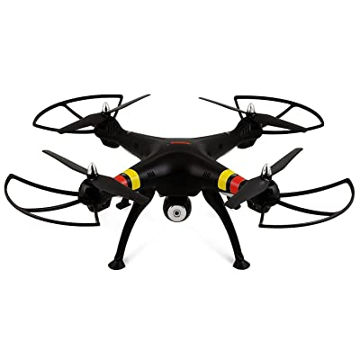 Syma X8W 2.4Ghz 4CH RC Headless FPV (Real Time) Quadcopter with Wifi Camera - BLACK: Electronics