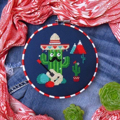 Cactus Cross Stitch Pattern, Chart Only ()
