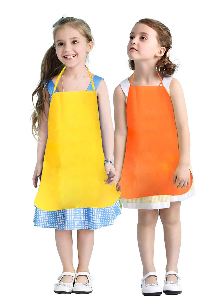Crafts /& Art Painting Activity-Safe Clean for Kids Painting Apron Attmu BBB-122-1 Classroom 12 Pack 6 Colors Childrens Artists Fabric Aprons-Kitchen Community Event