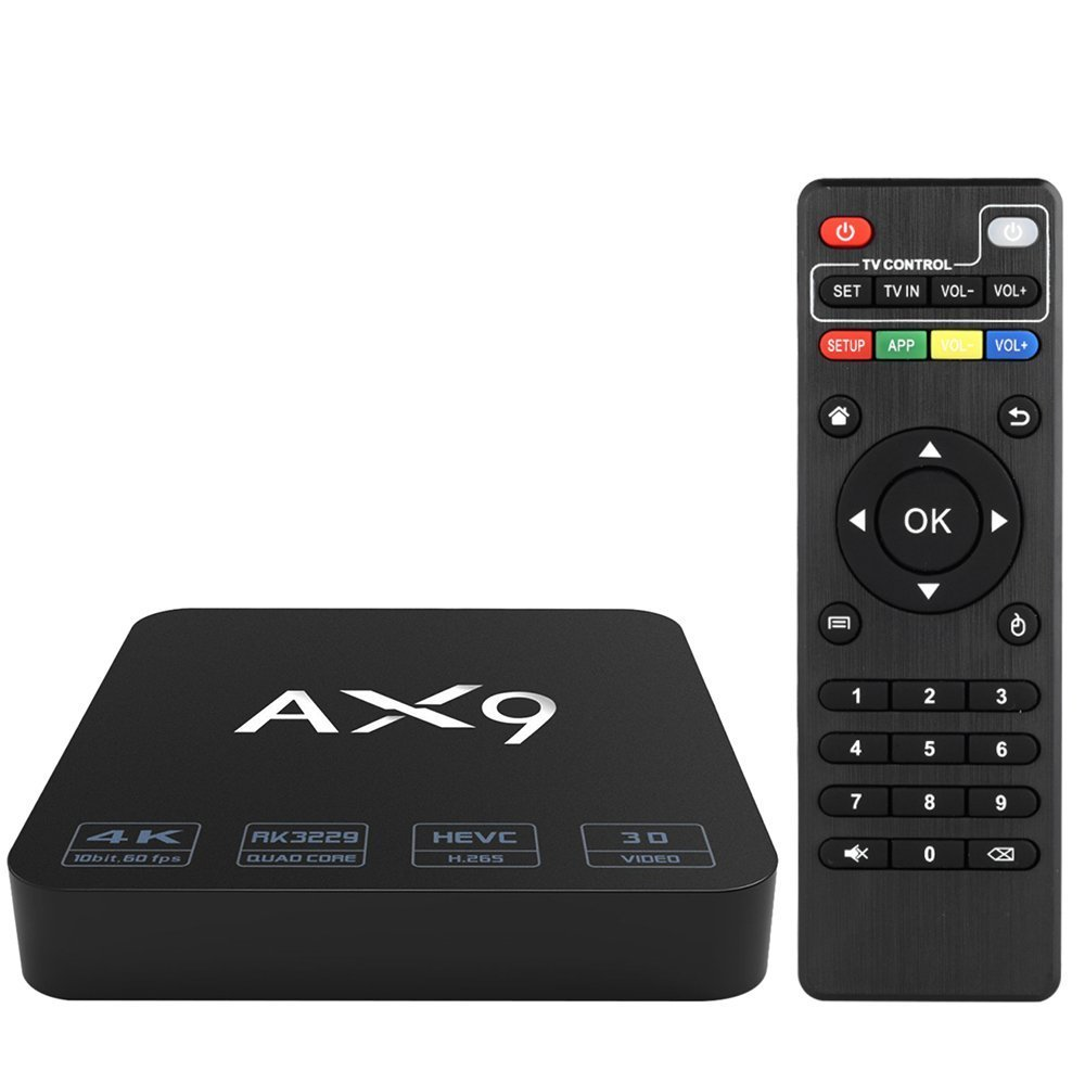 Modelo Smart Android TV BOX by ANTSIR AX con K HD Rockchip