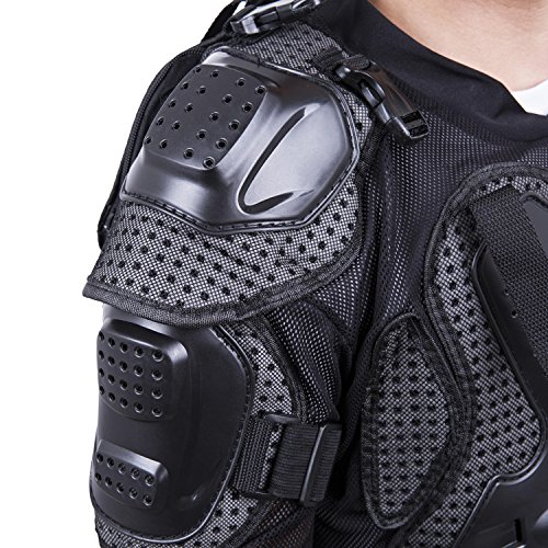 Motorcycle Full Body Armor Protector Pro Street Motocross ATV Guard Shirt Jacket with Back Protection Black 3XL by OHMOTOR (Image #3)