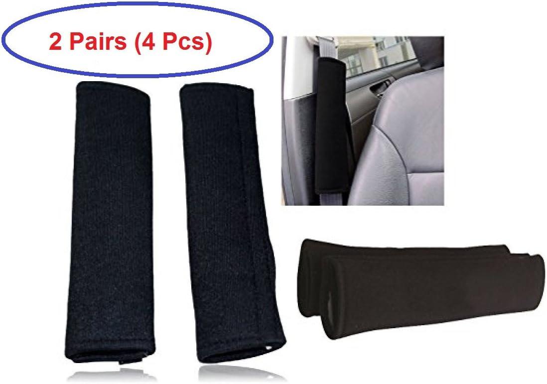PLAIN BLACK SEAT BELT COMFORT PADS