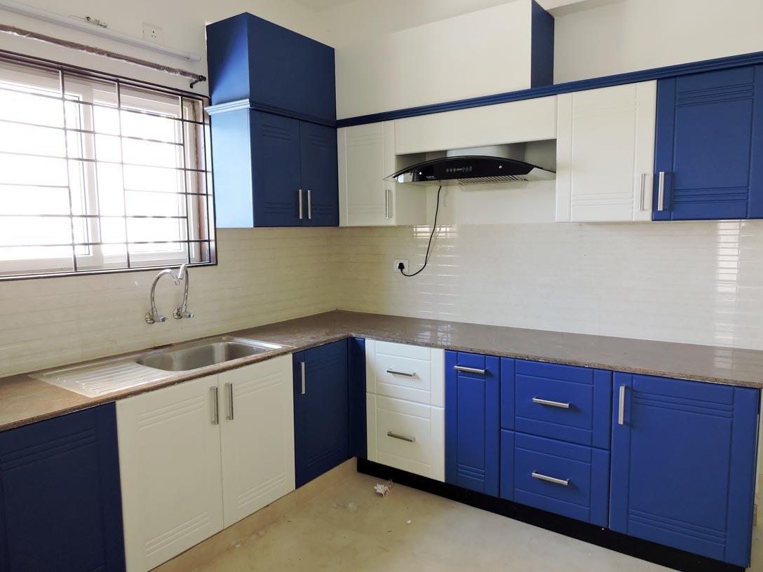 Elegant Wood Modular Kitchen Large Size Multicolour Amazon In