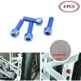SpeedPark AL-6061 M5x20mm Bike Bicycle Water Bottle Cage Screws 4 pcs Black