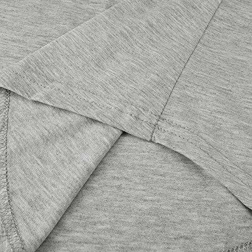 Pantaloncini Donna Set Asimmetrico Sciolto Maniche Casual Pezzi Top Corte Topgrowth Pigiama Da Grigio Maglietta A Pigiami Notte Due aEq8waP