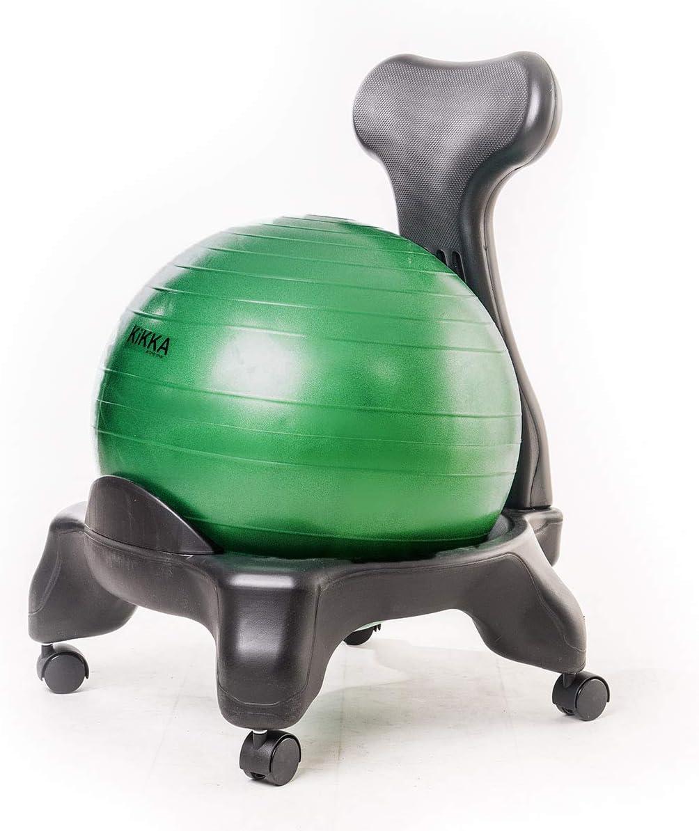 Kikka Active Chair Verde Esmeralda – Silla ergonómica con balón ...