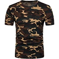 Niome Men Camoflauge T-Shirts Camo Tees 5 Colors and Sizes M-2XL
