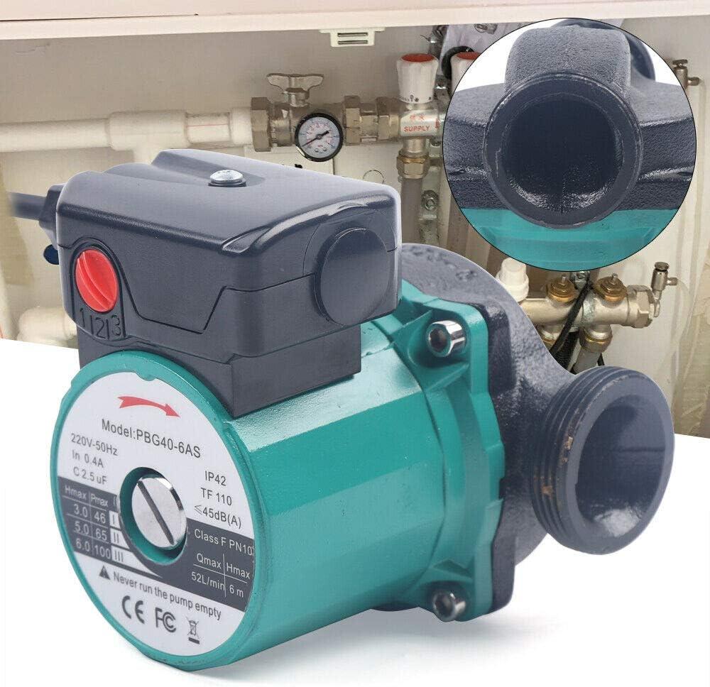 Jasemy Umw/älzpumpe 25-60//120 mm Heizungspumpe Hocheffizienzpumpe Zirkulationspumpe f/ür Zentralheizung