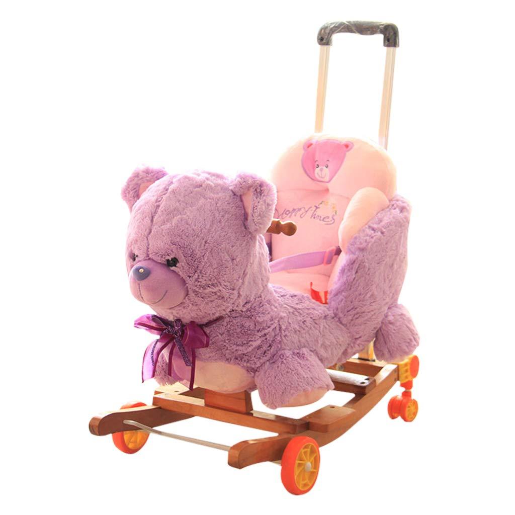 QIQIDEDIAN かわいい子供の揺れの椅子室内の少年少女振る玩具の人格の馬の誕生日の誕生日プレゼント 紫の (色 : 黄) 黄) B07K2RJ5VS 紫の QIQIDEDIAN 紫の, 八丈町:d84f4788 --- mail.inoxcolombia.com.co
