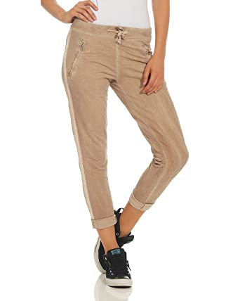 efa621dfa9 ZARMEXX Pantalones para Mujer Pantalones Casuales de algodón con Rayas  816133 Novios Ocasionales de Negocios Beige