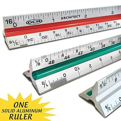 Amazon Com Ocm 1 Triangular Architect Scale Ruler Professional