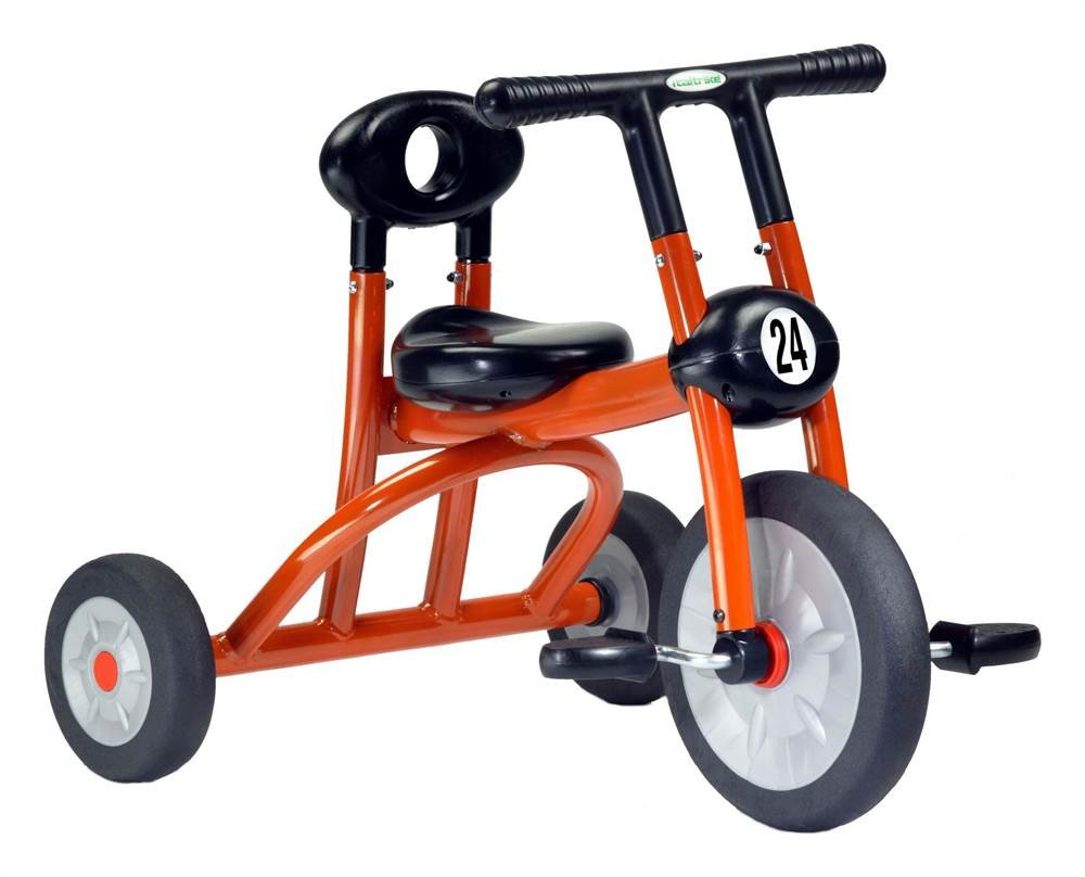 Toddler Orange Tricycle w Child-Safe Construction