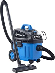 Vacmaster 4 Gallon, 5 Peak HP with 2-Stage Industrial Motor Wet/Dry Floor Vacuum, VF408, Blue