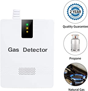 Plug in Natural Gas Detectors,Koabbit Alarm Gas Detector for Home Kitchen Methane,Propane,Compound Alarm, Gas Leak Detector,LPG LNG Coal Natural Gas Leak Detection