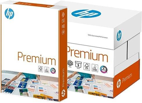 Hewlett Packard - Folios para impresión, 90 g/m², A4, blanco, caja que contiene 5 paquetes de 500 hojas: Amazon.es: Oficina y papelería