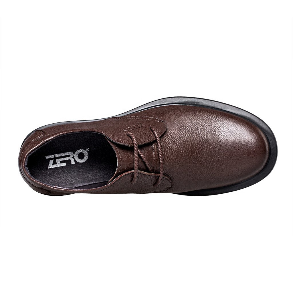 ZRO Men's Round Toe Oxford Shoes Lace Up Casual business Brown US 6 by ZRO (Image #3)