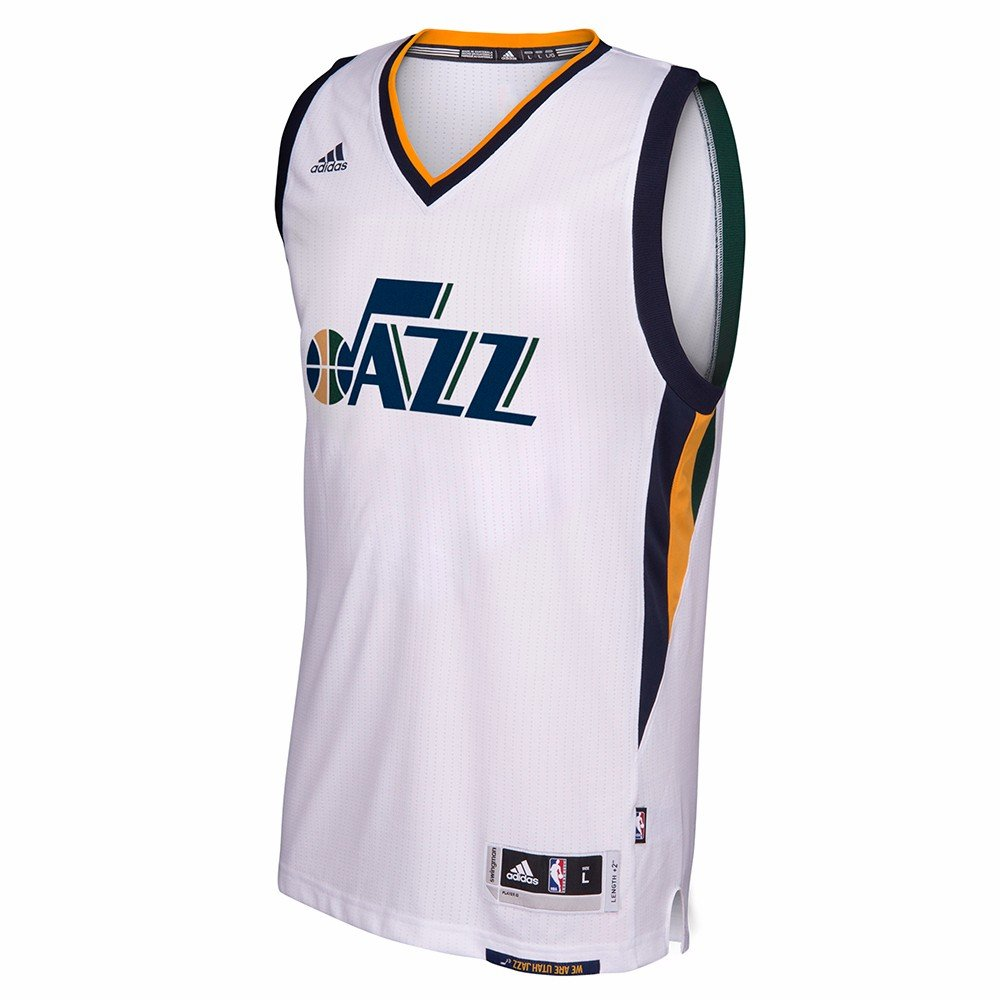 Amazon.com   Utah Jazz NBA Adidas White Official Home Climacool Swingman  Blank Jersey For Men (XL)   Sports   Outdoors 48e268016