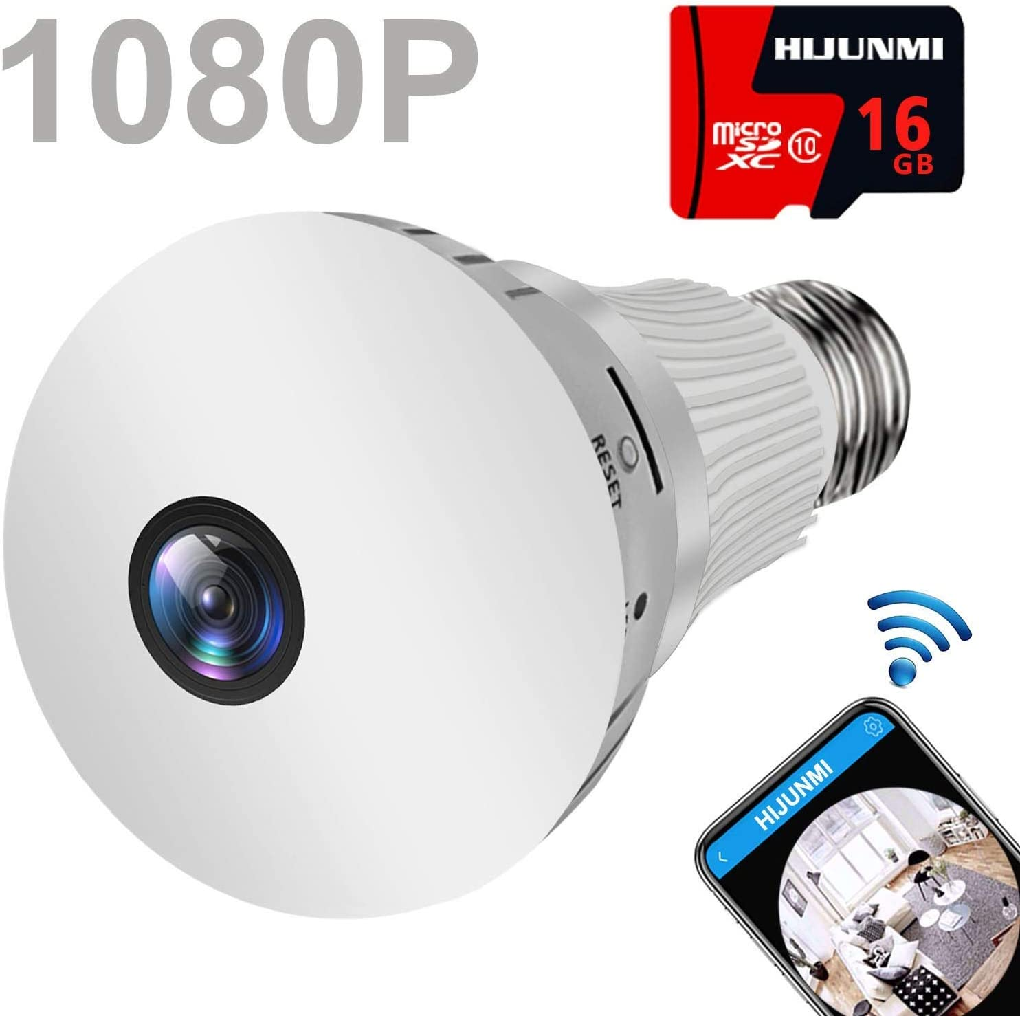 360° Wireless Wifi Camera Home Security Surveillance Detector Night Vision