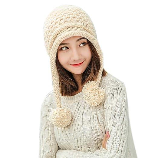 Dream Room Ponytail Messy Bun BeanieTail Womens Beanie Solid Ribbed Hat Cap 06c25f45f674