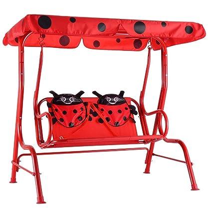 Wondrous Amazon Com Nanapluz 46 Red Kids 2 Person Seating Outdoor Bralicious Painted Fabric Chair Ideas Braliciousco