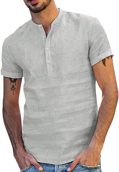 Camisetas De Los Hombres Camisa De Manga Corta Hombre Casual ...