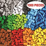 Dimple DC13992 Bucket with 1000 Pieces Multi Stacking Classic Bricks Learning Toy Set in Vibrant Colors, Small Building Blocks