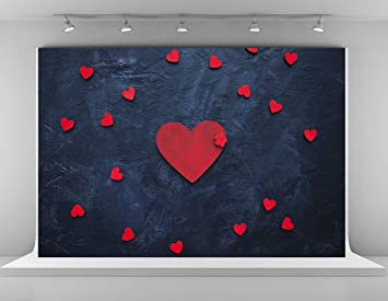 Amazon Com Kate 10x6 5ft Red Love Hearts Photography Backdrops Happy Valentine S Day Photo Backdrop Dark Blue Background Wedding Birthday Backgrounds Love Girls Theme Photo Studio Backdrop Camera Photo