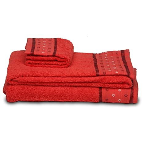 Burrito Blanco - Juego de toallas 102 Coral de 30x50, 50x100 y 70x140 cm