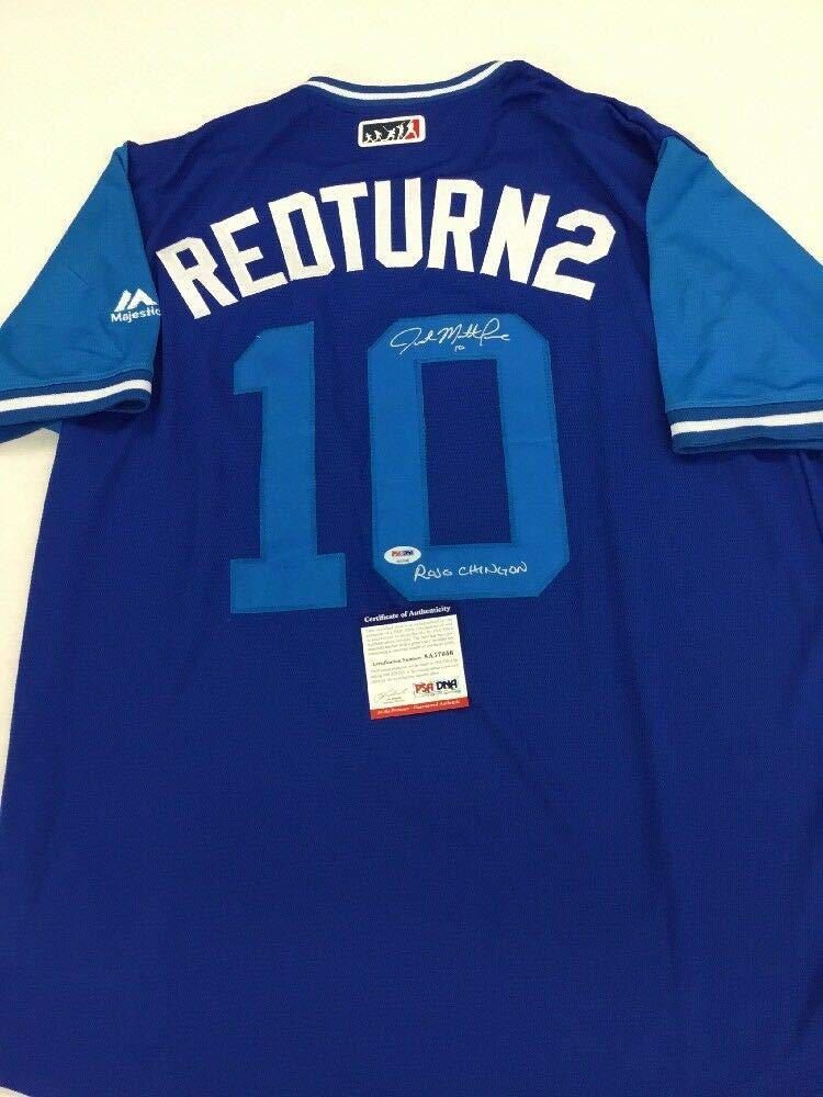 Justin Matthew Turner Autographed Signed Players Weekend Redturn2 Nickname  Jersey Memorabilia PSA DNA A57646 at Amazon s Sports Collectibles Store 113206523e1