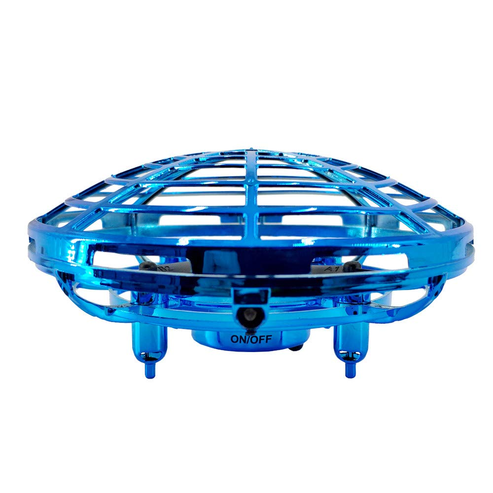 HYSBeauty UFO Flying Ball Toys, Gravity Defying Hand-Controlled, UFO Drones Toys, Infrared Induction Interactive Drone Indoor Flyer Toys with 360°Rotating & LED Lights for Kids, Boys & Adults(Blue) by HYSBeauty (Image #3)