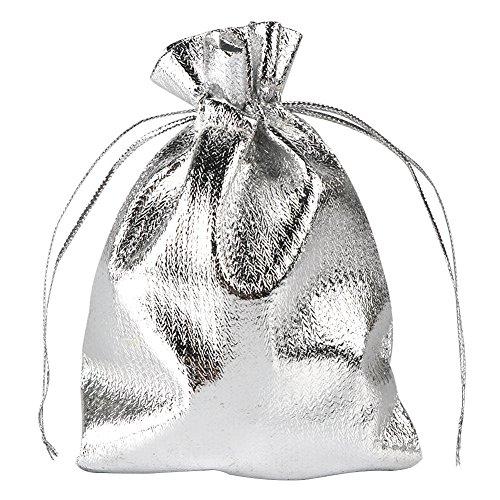 Metallic Drawstring Bags - 5